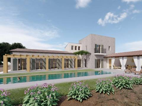 SWOSES5175 Rustic villa project in beautiful countryside near Ses Salines