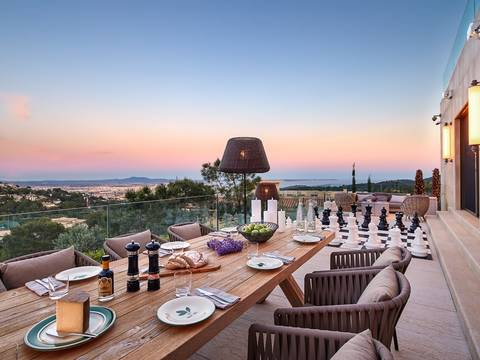 SWOSOV4560 Luxury villa for sale in Son Vida with fantastic views over Palma and the bay