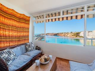 Panoramic sea view apartment with covered terrace in El Toro, Port Adriano
