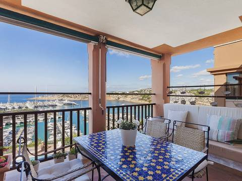 SWOTOR1623 Apartment for sale in Port Adriano with views over the sea